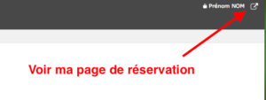 Page de reservation en ligne